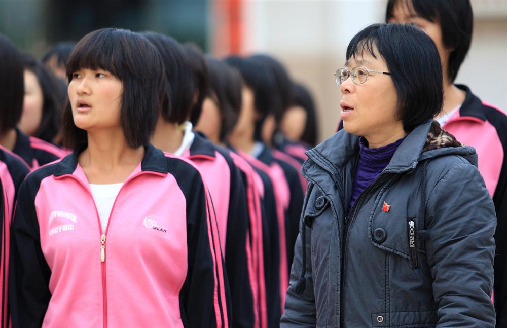 2012年1月10日,在丽江华坪女子高中的张桂梅校长。.jpg