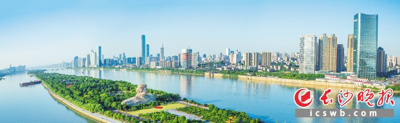 """全市奋力实施""""三高四新""""战略、推进高质量发展、建设现代化新长沙。长沙晚报全媒体记者 邹麟  摄"""