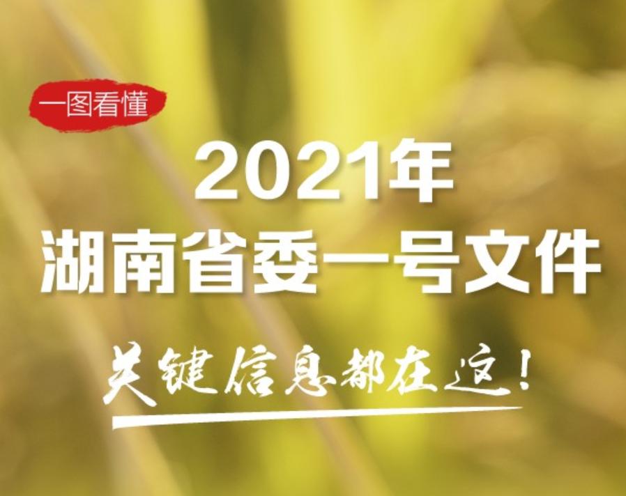 一图看懂2021年湖南省委一号文件,关键信息都在这!
