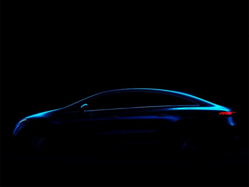 奔驰EQS最新预告图 将上海车展全球首发