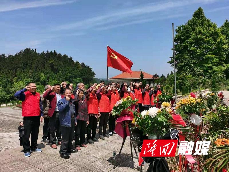 横板桥镇田心村组织党员到芙蓉山烈士陵园参观学习