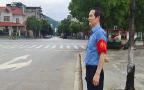 检察蓝+马甲红 文明创建江永检察在行动