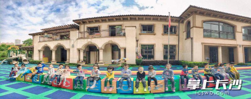 雨花区托斯卡纳三之三幼儿园幸福快乐的孩子们。幼儿园供图