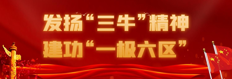 """发扬""""三牛""""精神,建功""""一极六区"""""""