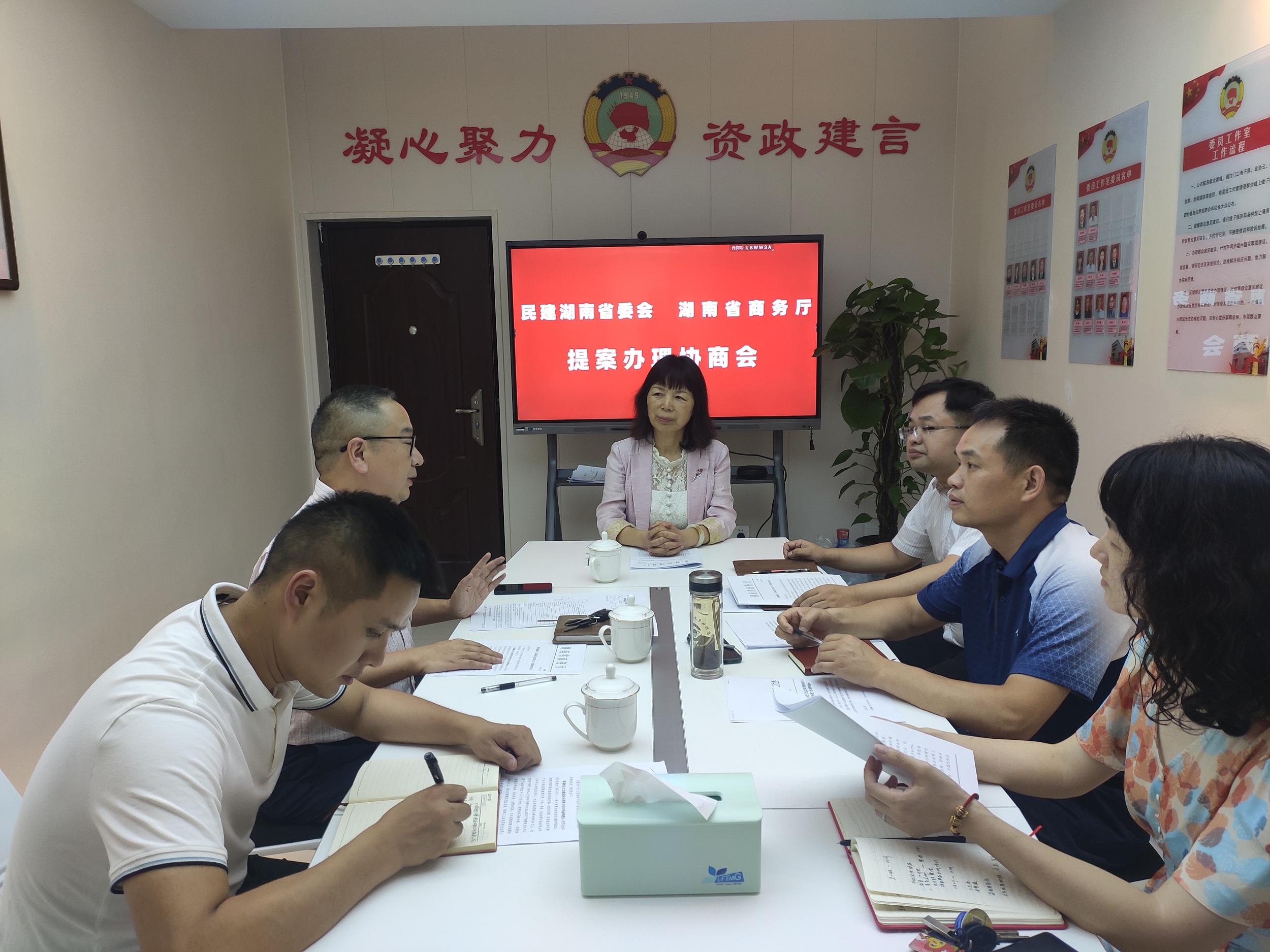 民建省委会省商务厅开展省政协十二届四次会议第0023号提案办理协商会