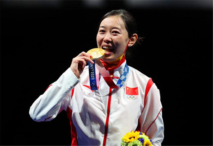 海报丨女子个人重剑孙一文斩获东京奥运会中国队第三枚金牌