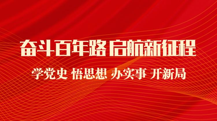 奋斗百年路 启航新征程——学党史 悟思想 办实事 开新局