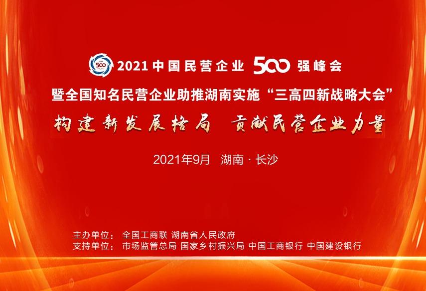 专题丨2021中国民营企业500强峰会