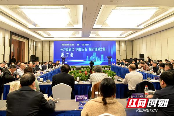 1、1月23日,长沙高新区召开城市发展研讨会。 尹婷 摄.JPG
